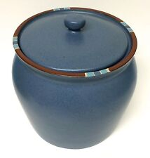 Dansk Mesa Blue Large Flour Canister Container Jar With Lid