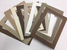 Picture Frame Mat 5x7 for 4x6 Antique tans browns set of 12