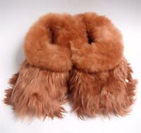 NEW Hand Made PREMIUM BABY Alpaca SURI  Fur Slippers - USA Size 7.5 - 10