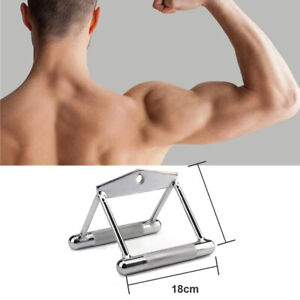 Triangle V Close Grip Bar Gym Cable Attachment Back Workout Seated Row Handle