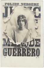 1900's Cleo de Merode, REAL PHOTO Beautiful Edwardian Theatre Actress, Theater