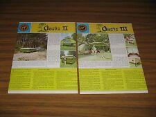 1970 Print Ad Camel Oasis II & III,Dunes & Caravan Tent Camping Trailers