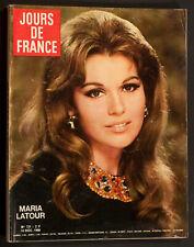 'JOURS DE FRANCE' VINTAGE MAGAZINE MARIA LATOUR COVER 14 DECEMBER 1968