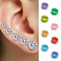 5Pairs/Set Crystal Zircon Fake Diamond Earrings Women Ear Stud Fashion Jewelry