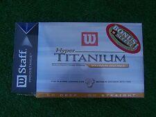 Wilson Staff Hyper Titanium Maximum Distance 1 Dozen Balls W/ Bonus Sleeve NEW