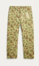 Nuevo RRL Ralph Lauren Pantalón chino Camo Frogskin 1940s para hombres 32