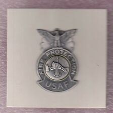 """USAF Air Force Fire Protection Firefighter pocket badge award 2"""" pin on"""