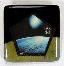 ART STUFF-Stamp Pins-SUN & EARTH FROM SPACE-Shuttle Station Astronomy Sunrise