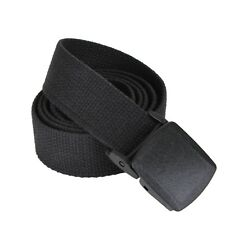 """Black Military Style 54"""" Web Belt With Plastic Buckle Rothco 4963"""