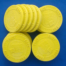 10 replacement poker chip tokens parts FACT or CRAP Beat Da Bomb Game