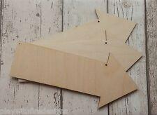 3 laser cut birch plywood directional arrows untainted weddings beach etc