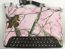 Large Realtree Pink Camo Shoulder Bag Handbag Conceal Carry Purse Studded