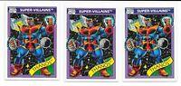 (3) 1990 Impel Fleer Marvel Universe Series 1 Thanos RC #79 LOT