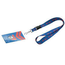 123640 NEWCASTLE KNIGHTS NRL TEAM LOGO LANYARD WITH CARD POCKET SWIVEL HOOK
