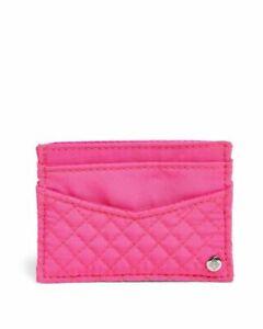 VERA BRADLEY ICONIC SLIM CARD CASE ROSE PETAL BRIGHT PINK NWT $20