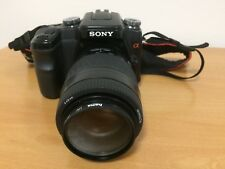 Sony DSLR-A100 10.2MP Camera + Minolta 70-210mm Lens + Sony HVL-F36AM Flash