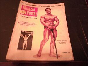 JAN 1953 MUSCLE POWER MAGAZINE MR AMERICA GEORGE EIFERMAN ON COVER