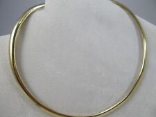 """14K Solid Yellow Gold Omega Necklace SALE - SAVE $2700 16"""" Long #1078"""