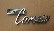 Ford CONSUL CORSAIR Metal Badge -  Vintage 1965-67 V4