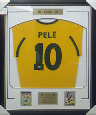 PELE BRAZIL SIGNED & FRAMED WORLD CUP SHIRT - PSA DNA #7A75630 THE REAL DEAL