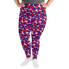 Camouflage Plus Size Leggings Red White Blue (Hattrick Novelties)