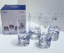 Set of 4 Spode Blue Italian Hi Ball Glasses in Original Box FREE SHIPPING