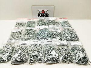 HECO-TOPIX-PLUS 1100 Schrauben von 3,5 x 20 - 4,5 x 70 mm mit Bit als Set