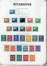 Nicaragua Superb Collection on leaves 1862-1899 mainly MH