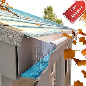 "DIY 5"" Stainless Steel Gutter Guard Filter 24' Metal Mesh Roof Grits Rain Leaf"