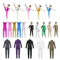 Kids Gymnastics Ballet Dance Leotards Girls Stretchy Bodysuits Unitard Dancewear