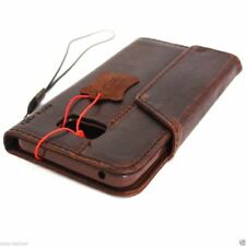 genuine leather Case for samsung galaxy note 5 book wallet handmade rubber flip