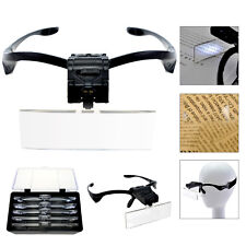 Led Head Magnifying Glasses Headset with Light Hands Free Headband Magnifier Lam