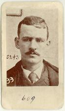 Photo Bertillon identification Policière Police Mug Shot Usa 1895