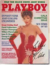Joan Collins Dynasty Autograph Hand Signed Playboy Cover 1983