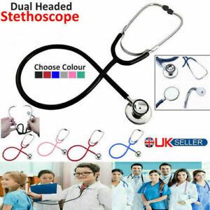 Medical EMT Dual Head stethoscope for Pro Nurse Doctor Vet Student Health