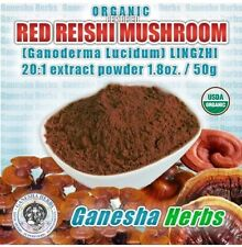 ORGANIC REISHI MUSHROOM  Powder HIGH POTENCY 20:1  Concentrated DUAL EXTRACT!