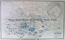 Antique Map 14-336 Victoria - showing State Schools c.1886