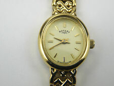 Rotary Ladies Womens Gold-Plated Watch LB77895/BR/03