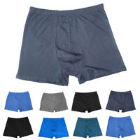 Men High Waist Cotton Boxer Trunks Underwear Panties Shorts Plus Size L-8XL