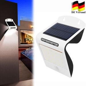LED Solarleuchte mit Bewegungsmelder Außen Fluter Gartenstrahler Solar Lampe DHL