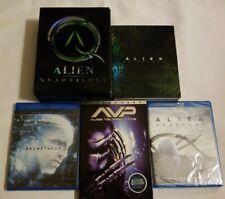 Alien Anthology (Blu-ray), Alien Quadrilogy (DVD), Prometheus, Covenant & AVP
