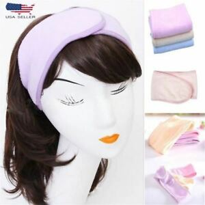 Pastel Tone Spa Bath Shower Make Up Wash Face Cosmetic Headband Hair Terry Band