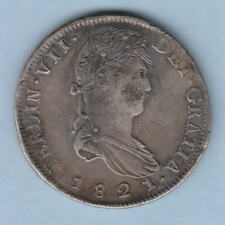 New listing Mexico-Zacatecas. 1821-Rg 8 Reales. Much Lustre rev. Possible chopmark obv. gVf