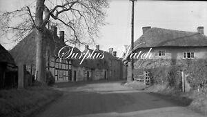 B/W Negative St Mary Bourne Hampshire Village Scene 1940s + Copyright W482