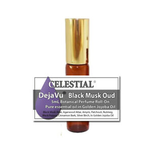 DejaVu® BLACK MUSK OUD ORGANIC ROLL ON BOTANICAL PERFUME - EARTHY & WOODY NOTES