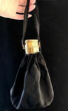 Vintage Art Deco Accordion purse, handbag, black and gold