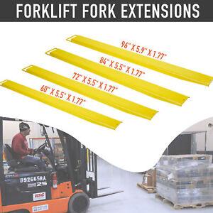 """Forklift Pallet Fork Extensions Pair Retaining Slide Lift Truck 60""""72""""84""""96"""""""