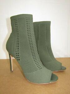 "Steve Madden ""Candid"" Olive Green Knit High Heel Peep Toe / Women's SZ: 10"