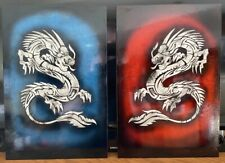 Airbrushed pair of dragons - 12