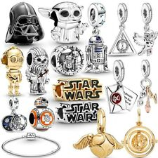 100% 925 Sterling Silver Star Wars Beads Harry Potter Charms Fiit Pandora Gift